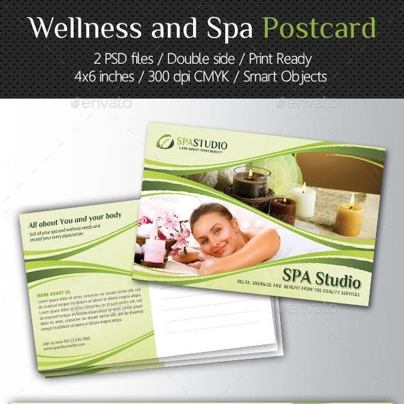Wellness and Spa Postcard Template V02