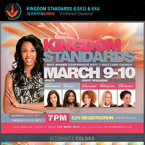 Kingdom Standards Women's Conference Flyer Template