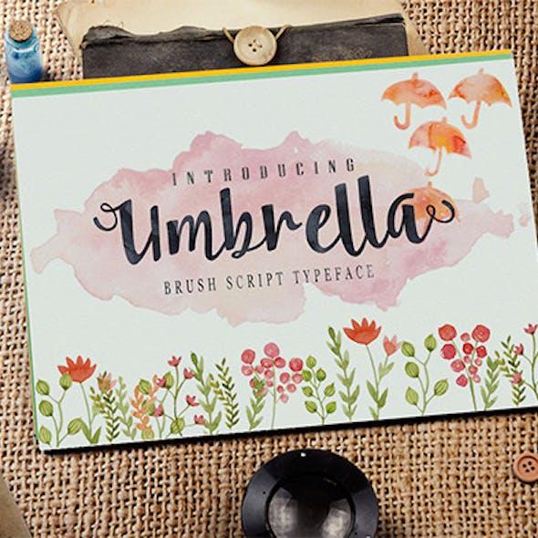 Font Umbrella Script