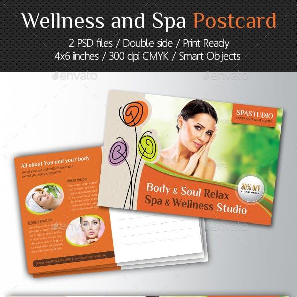 Wellness and Spa Postcard Template V03