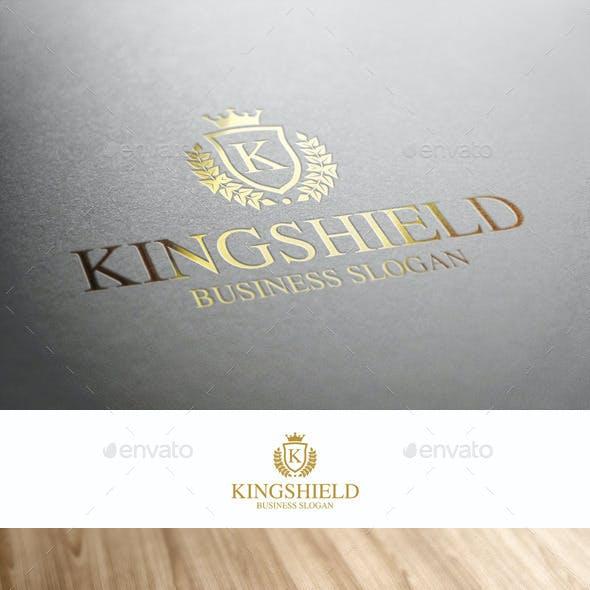 King Shield Royal Crest Logo