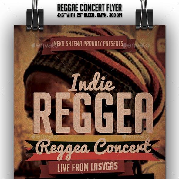 Reggae Concert Flyer