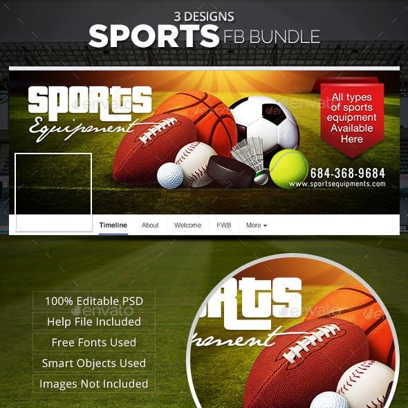 Sports Facebook Cover Bundle - 3 designs