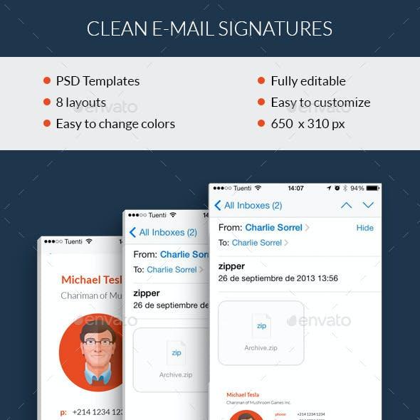 Clean E-mail Signatures