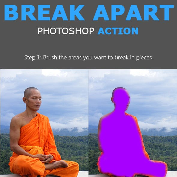 Break Apart Photoshop Action