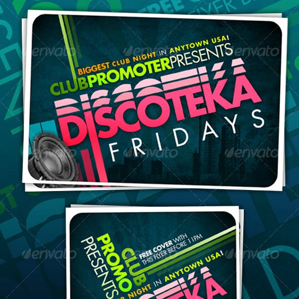 CLUB/PROMOTIONAL/EVENT Typographical Flyer