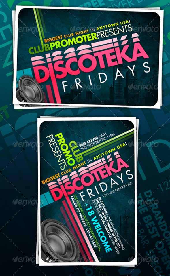 CLUB/PROMOTIONAL/EVENT Typographical Flyer - Clubs & Parties Events