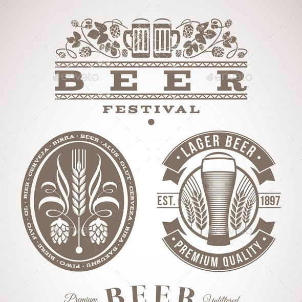 Beer Emblems and Labels