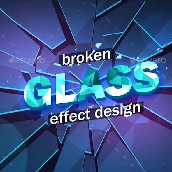 Broken Glass Design Template