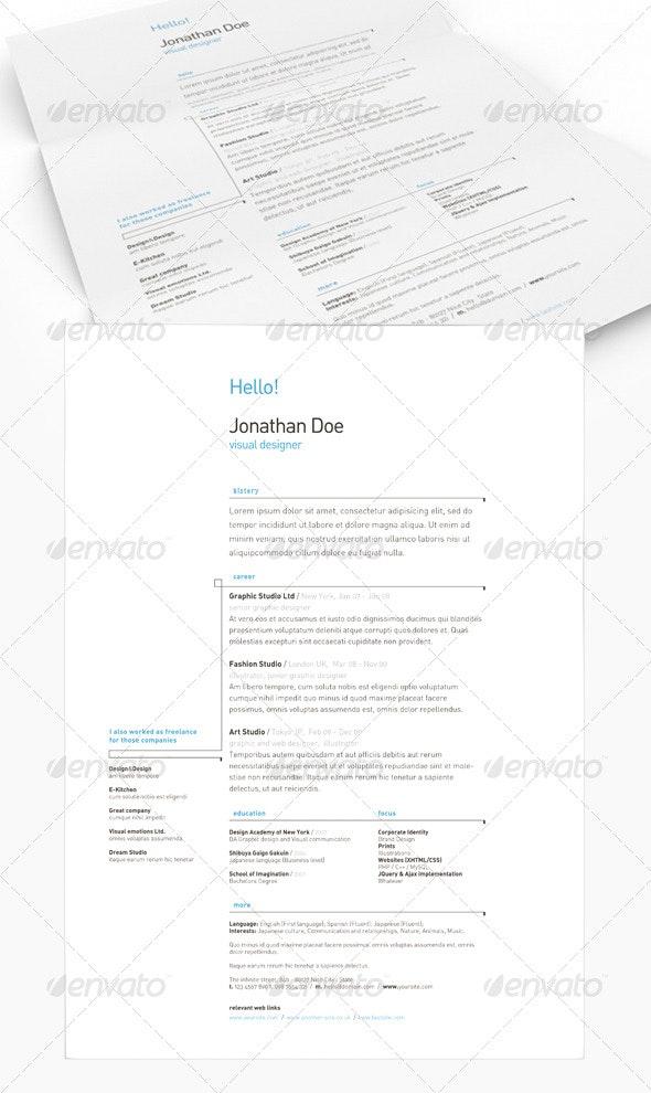 Get Minimal - Resume 03 - Resumes Stationery
