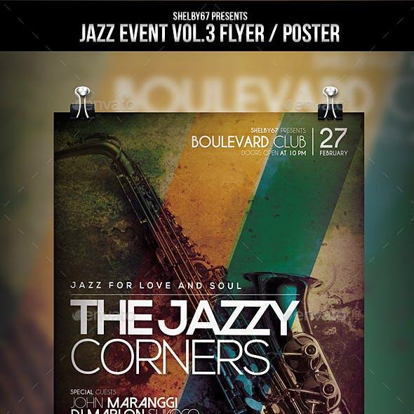 Jazz Event Flyer / Poster Vol.3
