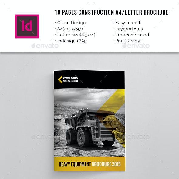 18 Pages Construction A4 / Letter Brochure