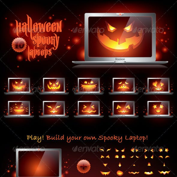 Halloween Spooky Laptops