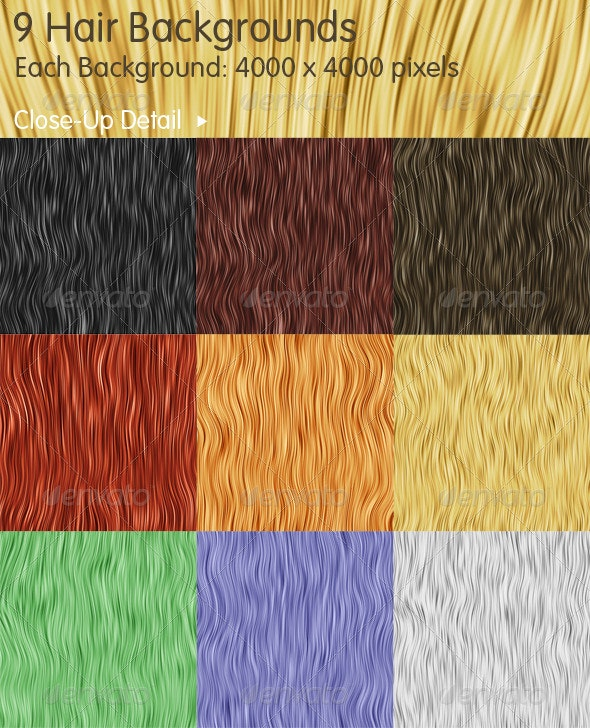 9 Hair Backgrounds - Backgrounds Graphics