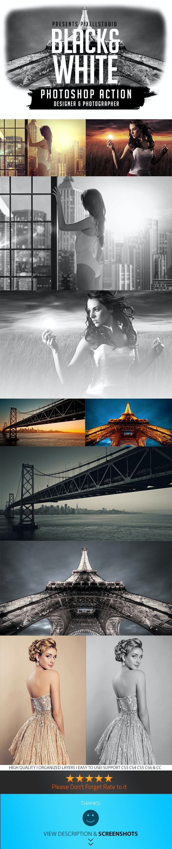 Black&White Action For Designer & Photographer - Photo Effects Actions
