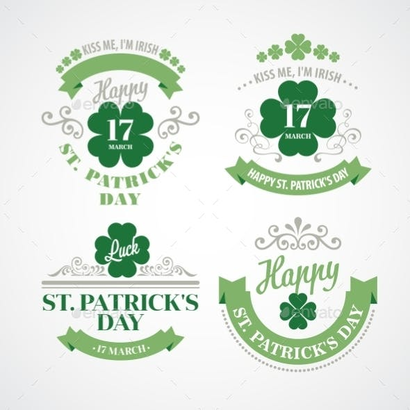 Typography St Patricks Day Emblems