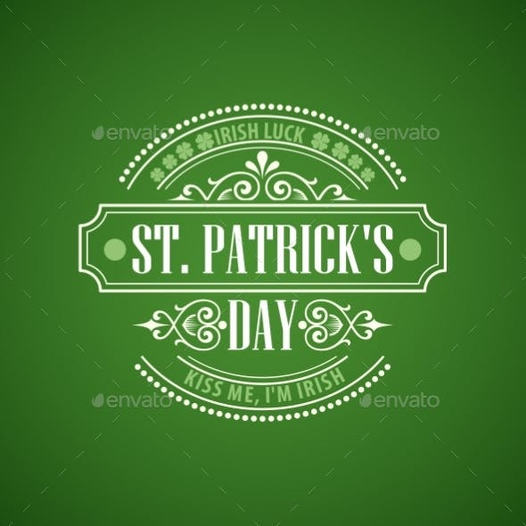 Typography St Patricks Day Emblem