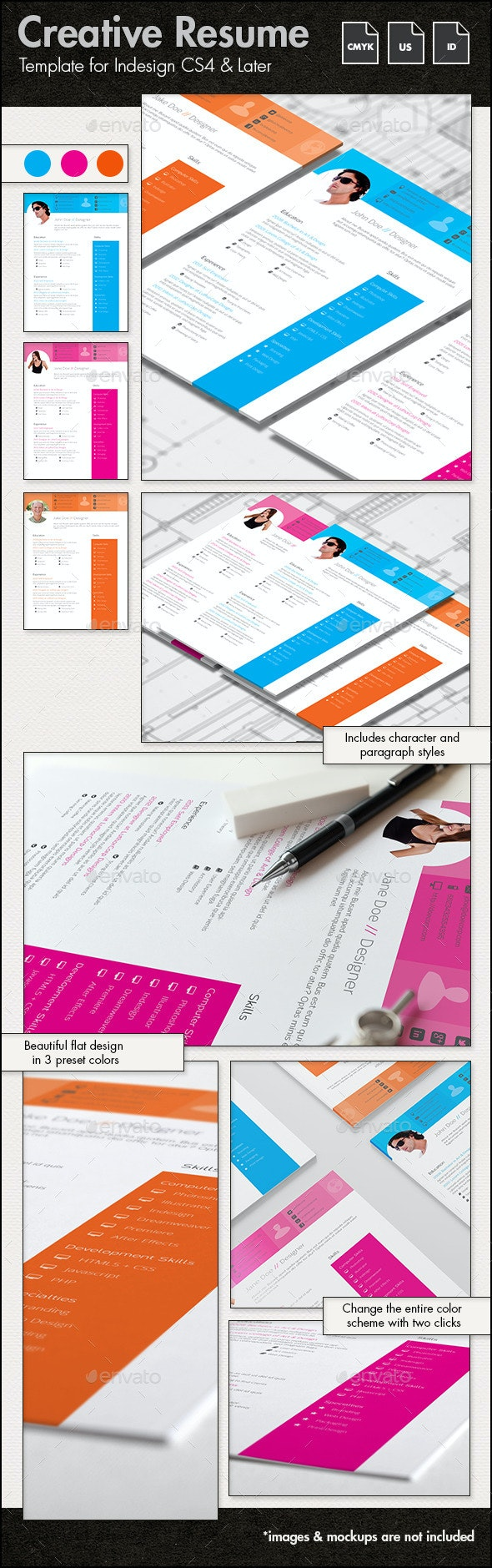 Resume Template - US Letter - Resumes Stationery