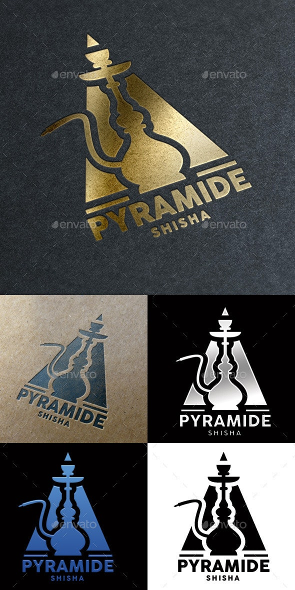 Pyramide Shisha Bar Logo - Logo Templates