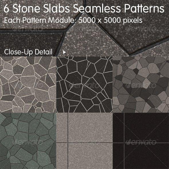 6 Stone Slabs Seamless Patterns