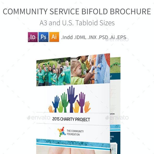 Community Service Bifold / Halffold Brochure