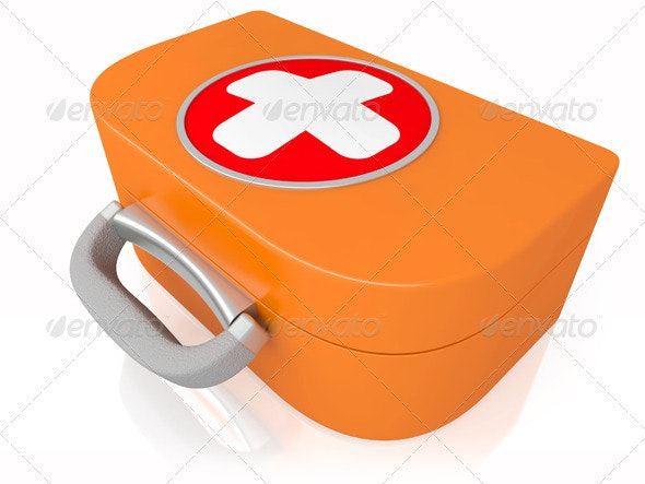 medical first-aid set - Objects 3D Renders