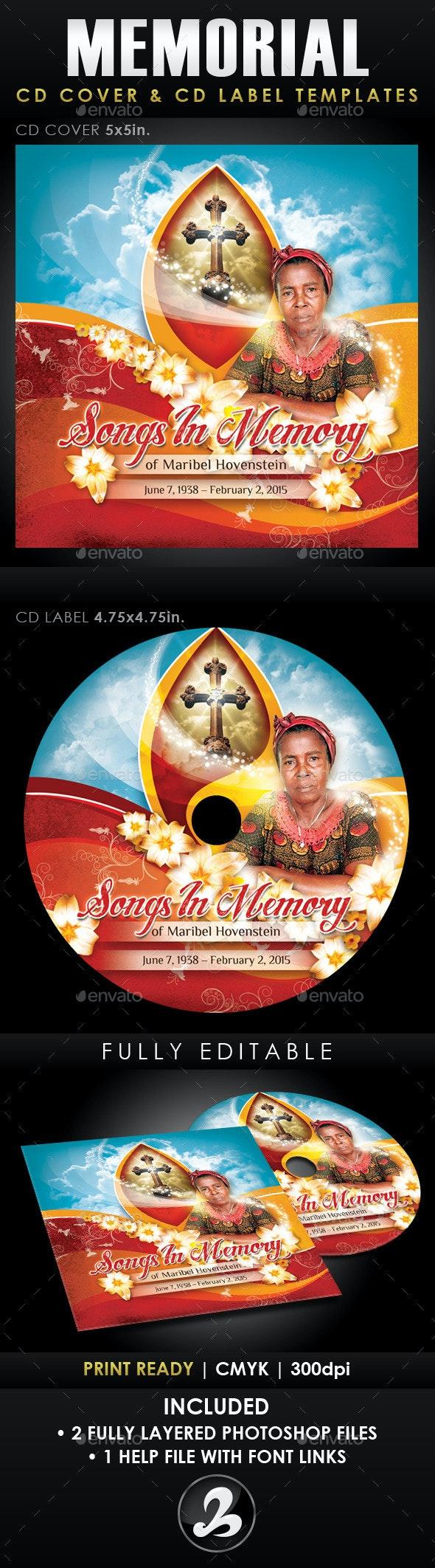 Memorial CD Cover & Label Templates - CD & DVD Artwork Print Templates