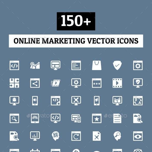 150+ Online Marketing Icons