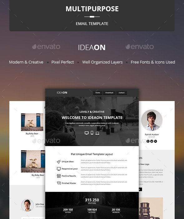 IdeaOn - Multipurpose Email Template