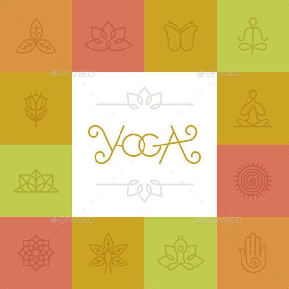 Linear Yoga Icons