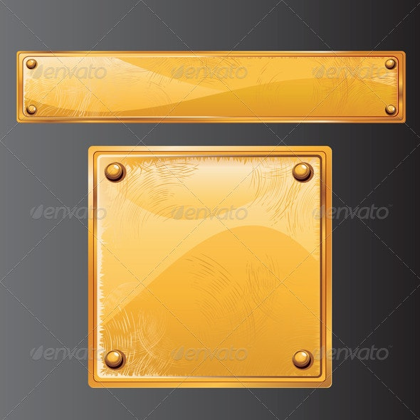 Vector Golden Plates - Characters Vectors