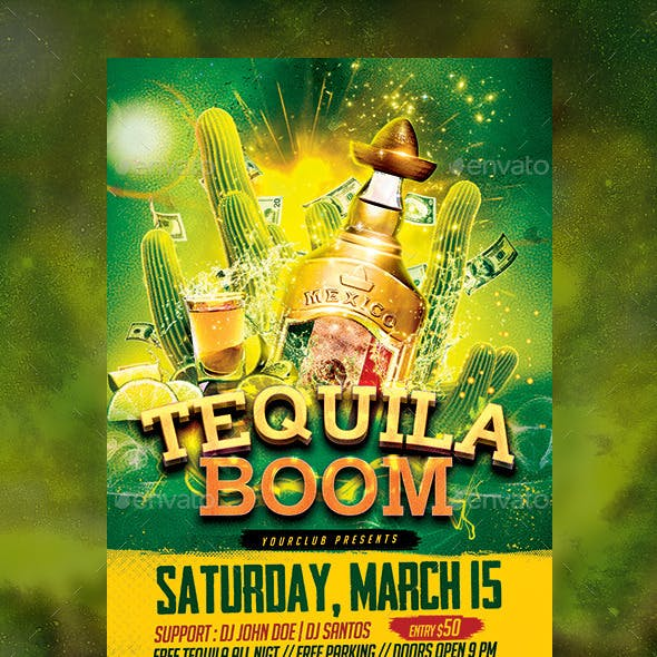 Tequila Boom Party flyer