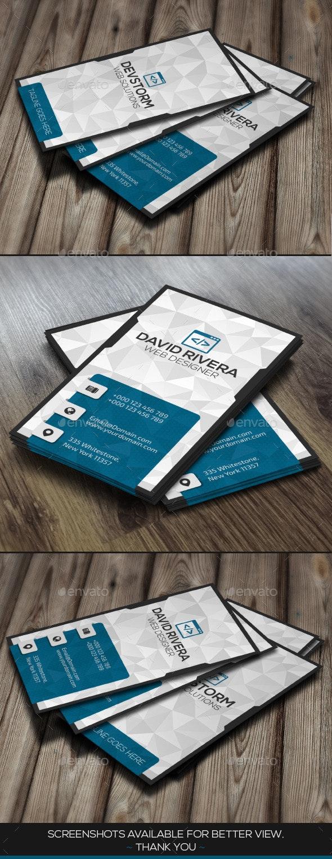 DevBlue Modern Business Card - Business Cards Print Templates