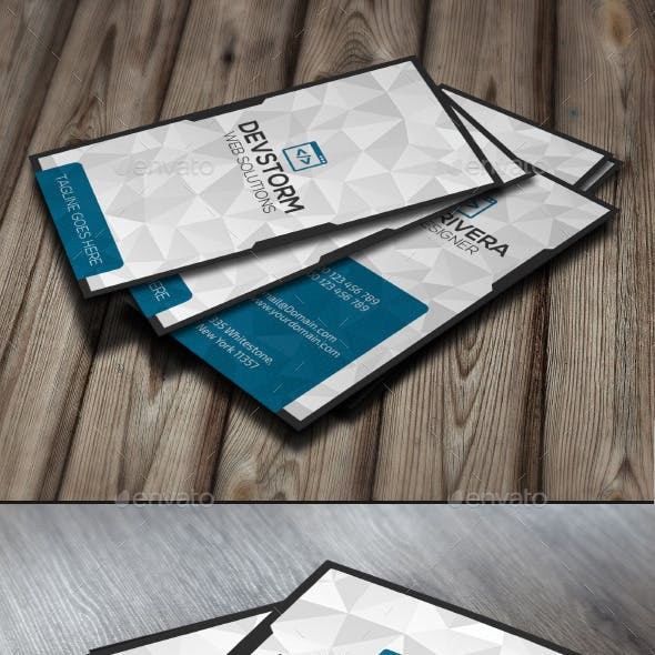 DevBlue Modern Business Card