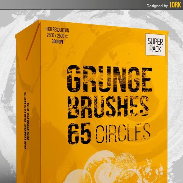 Grunge Brushes - 65 circles
