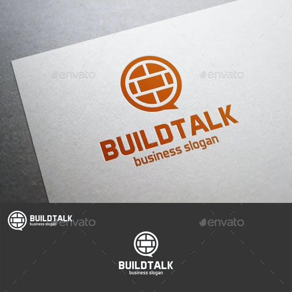 Build Talk Speak Logo Template
