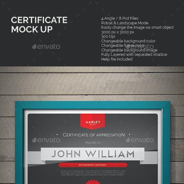Certificate Mock-up