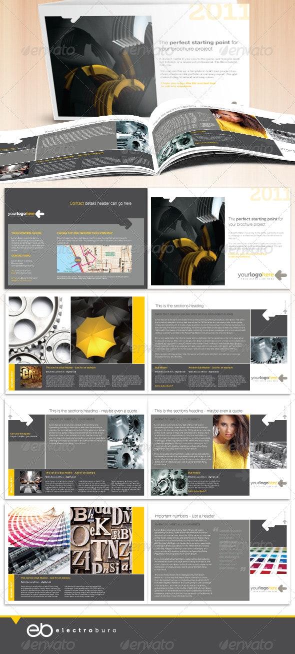 Professional Business A5 Landscape Brochure - Corporate Brochures