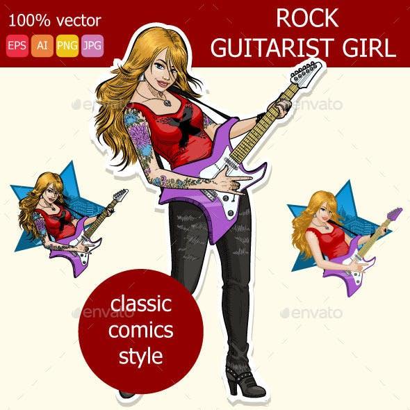 Rock Guitarist girl