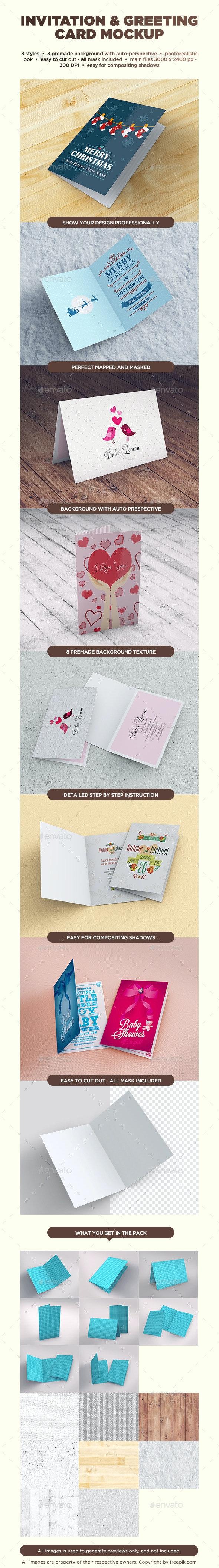 Invitation & Greeting Card Mockup - Miscellaneous Print