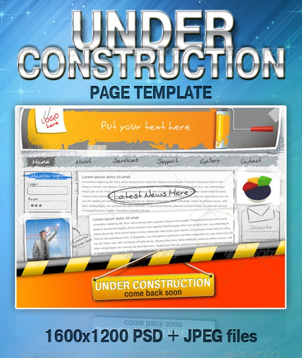 UNDER CONSTRUCTION page template - Miscellaneous Web Elements