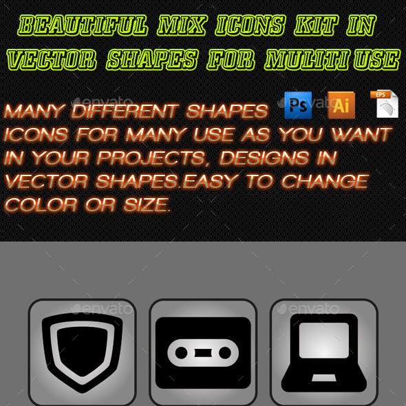 Beautiful Mix Icons Kit