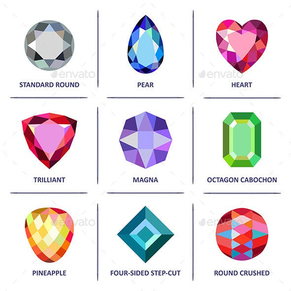 Gem Cuts Infographics