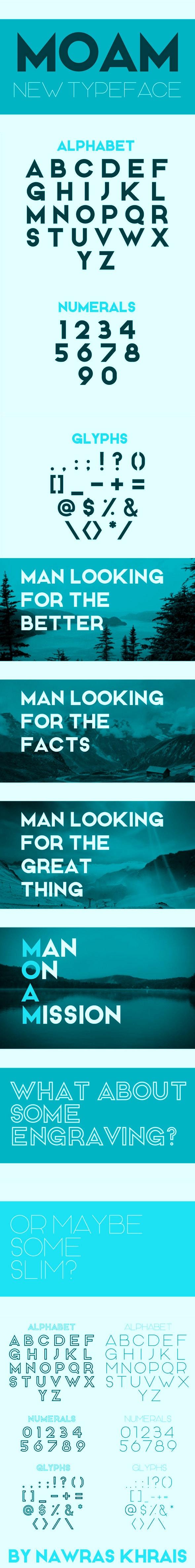 MOAM Typeface - Fonts