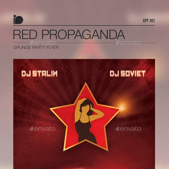 Grunge Party Flyer • Red Propaganda