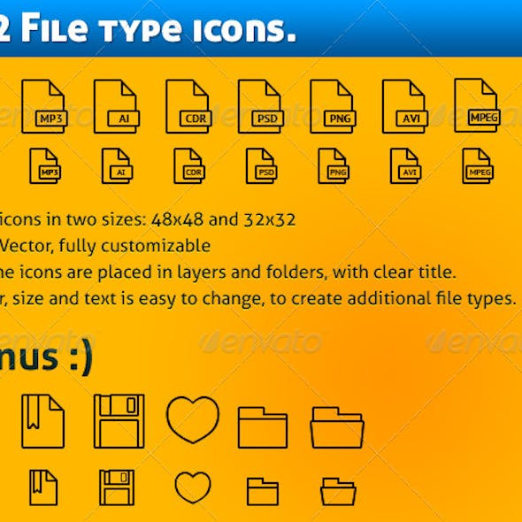224 Simple file types icons