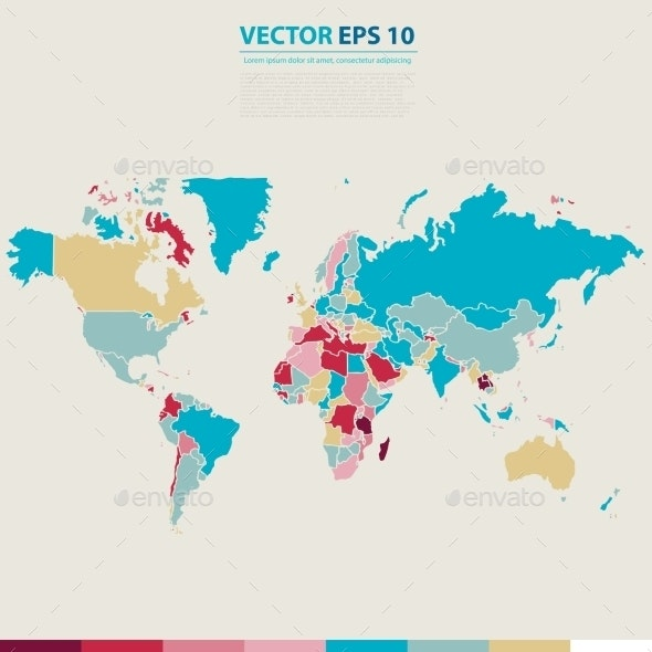 Abstract Telecommunication Earth Map - Web Technology