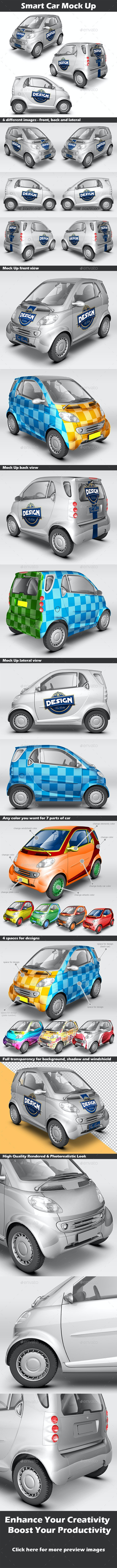 Smart Car Mock Up - Vehicle Wraps Print