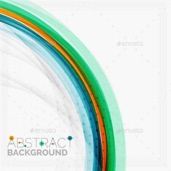 Abstract Blue and Orange Color Line Background