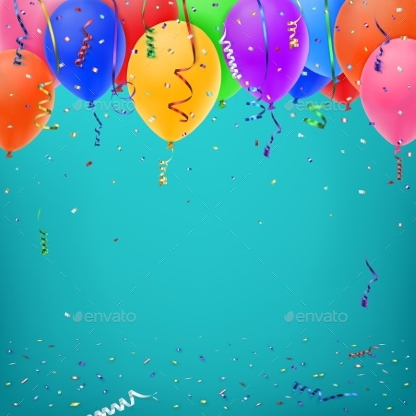 Celebration Background Template With Confetti By Aleksandrs B Graphicriver